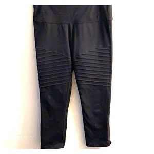 Black ribbed leggings from Lucy.com